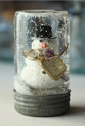 DIY Snow Globe Jar