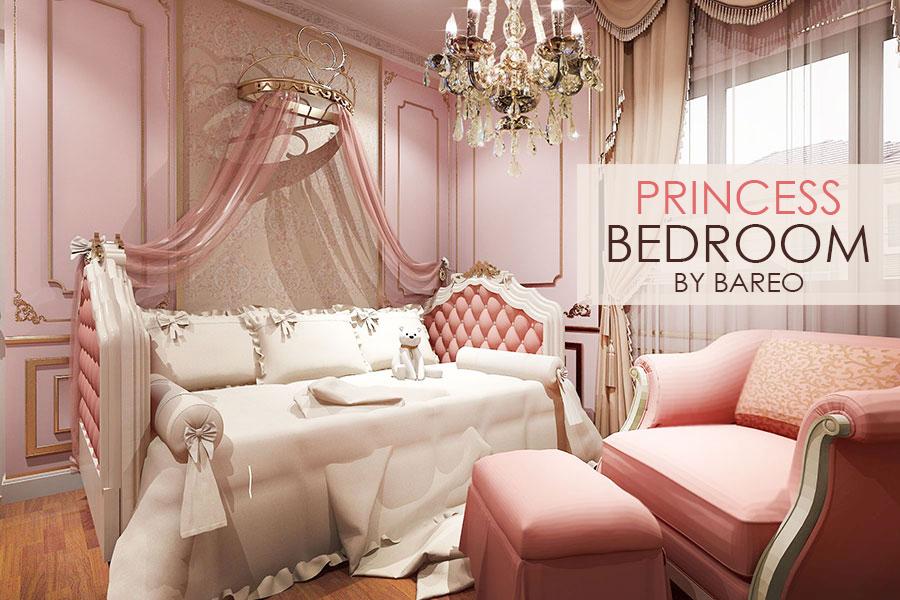 บาริโอ Bareo ออกแบบภายใน ออกแบบตกแต่งภายใน บริษัทออกแบบภาย บริษัทออกแบบตกแต่งภายใน interio เตียงเจ้าหญิง ห้องนอนเจ้าหญิง
