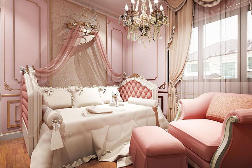 บาริโอ Bareo ออกแบบภายใน ออกแบบตกแต่งภายใน บริษัทออกแบบภาย บริษัทออกแบบตกแต่งภายใน interio ห้องนอนเจ้าหญิง เตียงเจ้าหญิง